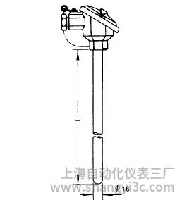 装配式热电偶防无固定式安装图片及尺寸