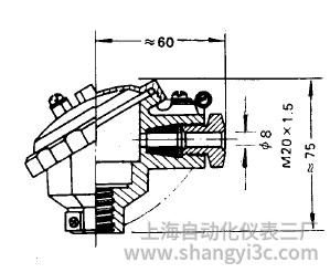 装配式热电偶防水式接线盒图片及尺寸