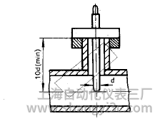 铠装热电偶在带保温层水平管道上的垂直安装图片