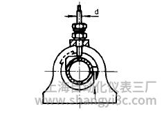 铠装热电偶在轴承上的垂直安装图片