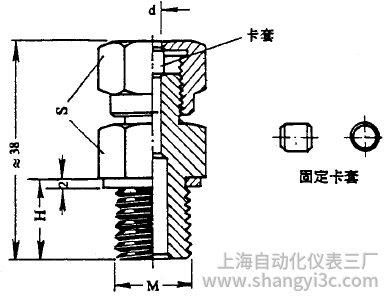 化工用热电偶、热电阻固定卡套螺纹图片尺寸