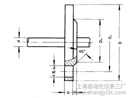热电偶、热电阻用固定平焊钢法兰(B)型图片尺寸