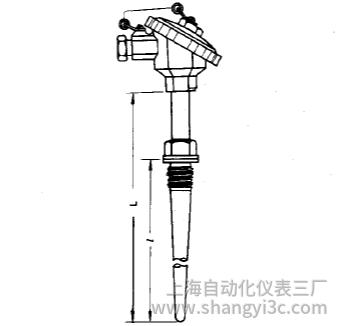 WRN-631固定螺纹防水接线盒锥形保护管热电偶安装图片