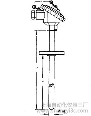 WRE-430固定法兰装配式热电偶安装图片