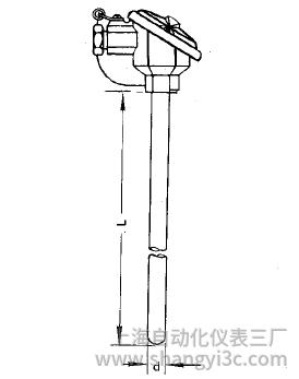 WZC-120无固定防溅式铜热电阻安装图片