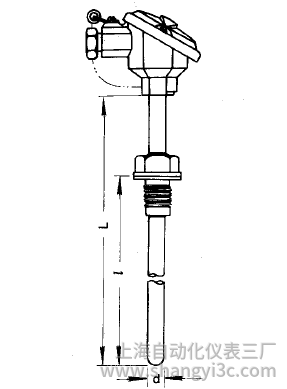 WZP-221固定螺纹防溅式热电阻安装图片