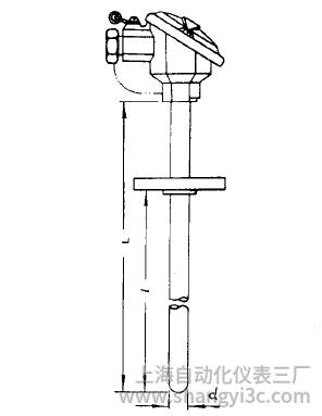WZP-421固定法兰防溅式热电阻安装图片