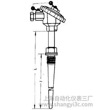 WZP-631A固定螺纹锥形套管热电阻安装图片