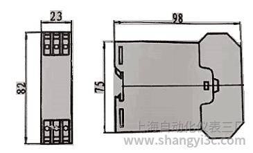 SBWZ-2460D导轨型热电阻温度变送器安装图片